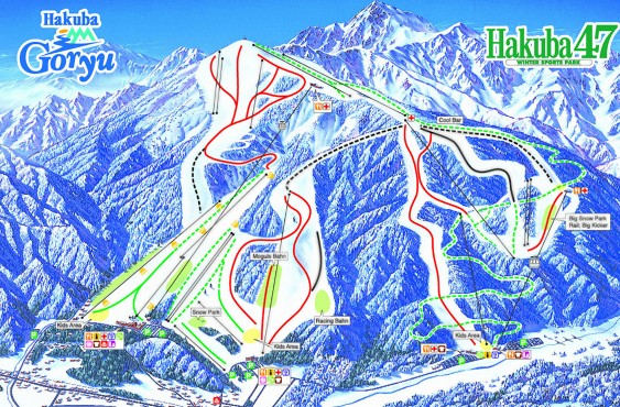 SKI SLOPE MAP